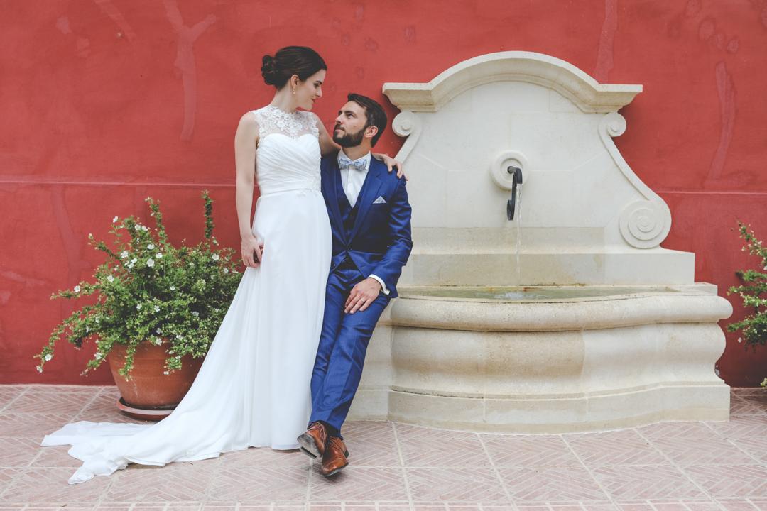 photo mariés mur rouge glup Production