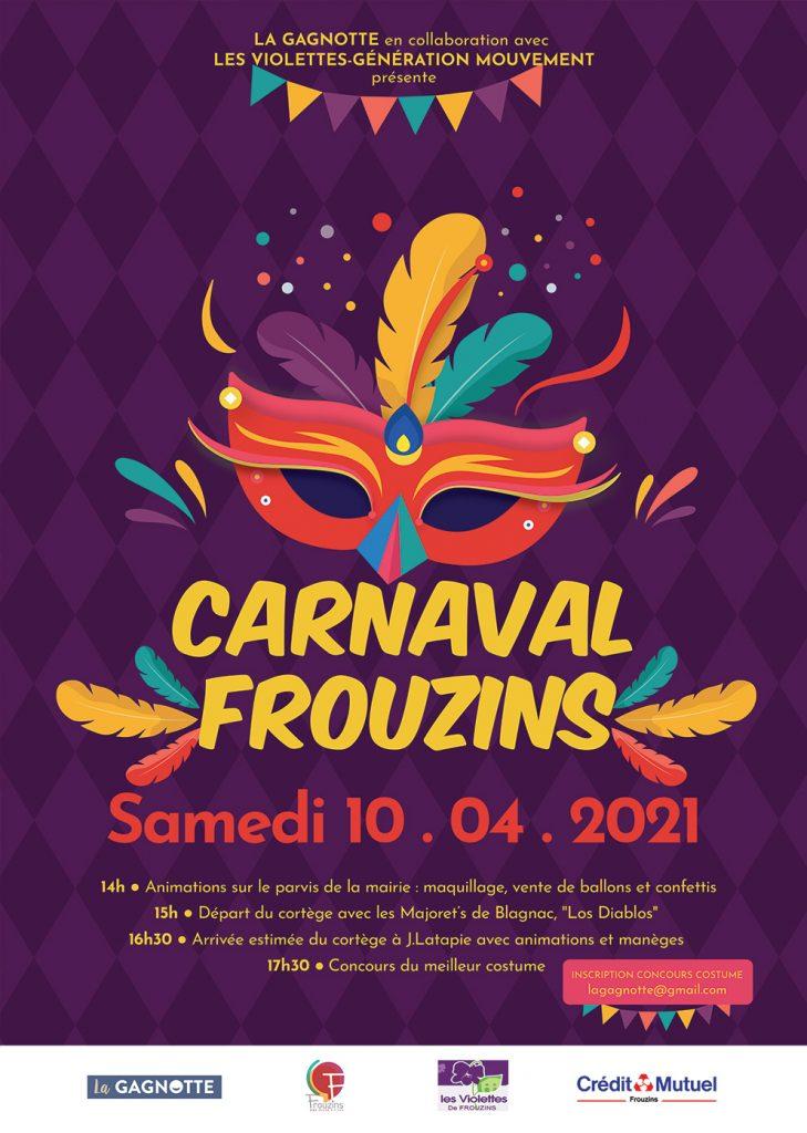 visuel affiche carnaval Frouzins 2021 glup production