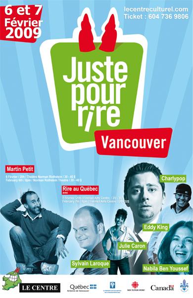 visuel affiche juste pour rire Vancouver 2009 glup production